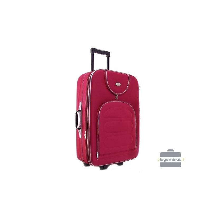 Keskmise suurusega kohver Deli 801-V tume punane