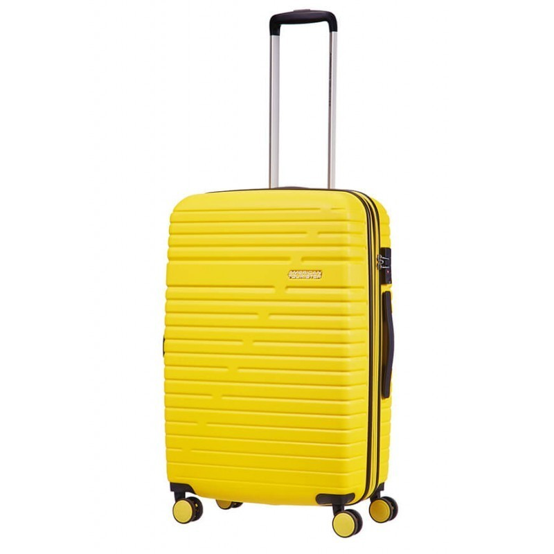Keskmise suurusega kohvrid American Tourister Aero Racer V kollane