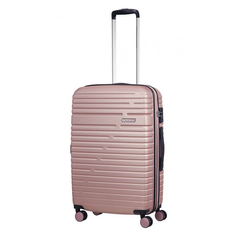 Keskmise suurusega kohvrid American Tourister Aero Racer V roosa