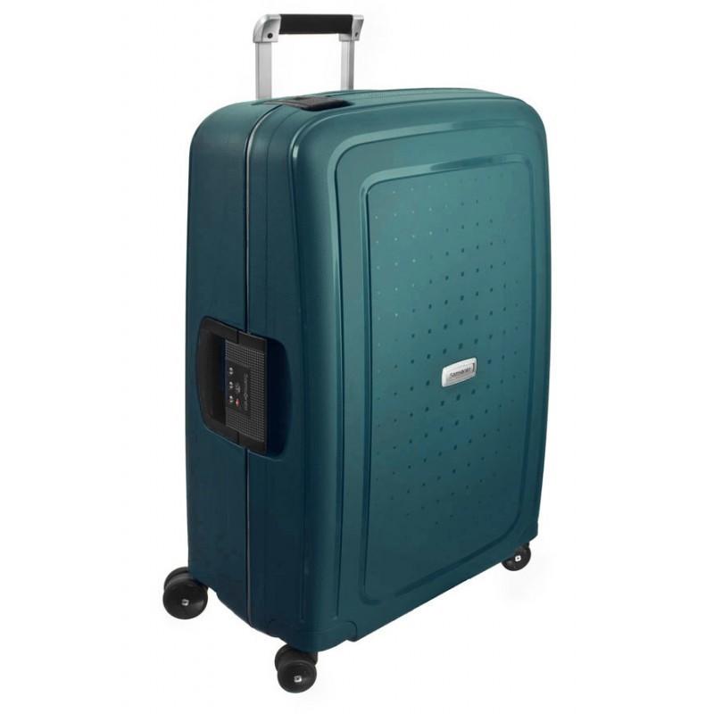 Keskmise suurusega kohver Samsonite S-Cure DLX V roheline