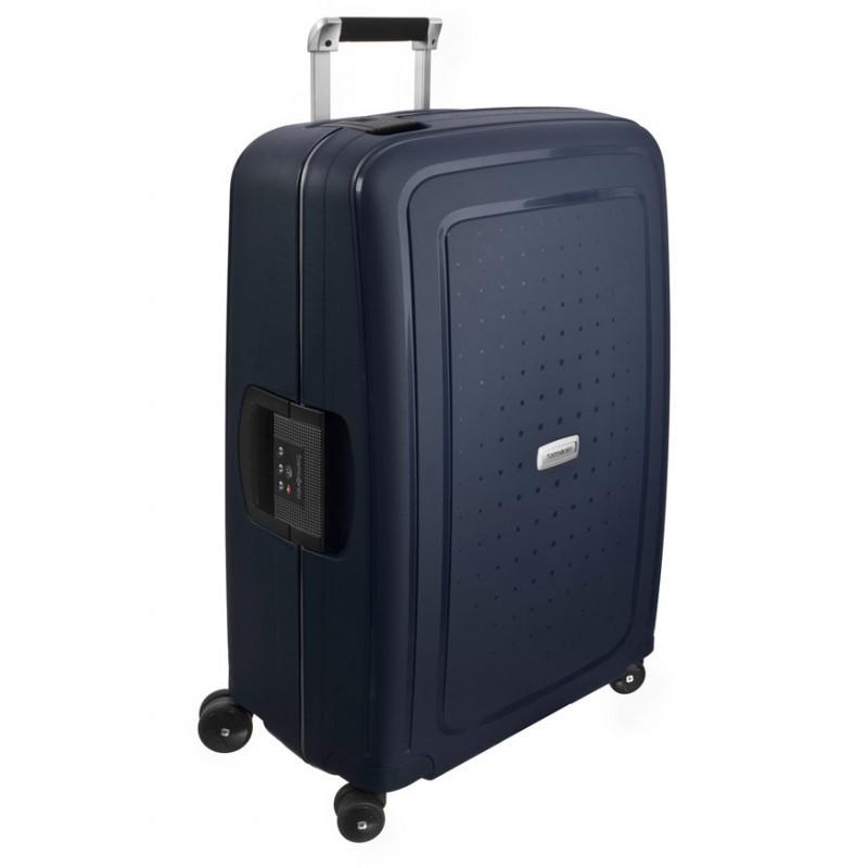 Keskmise suurusega kohver Samsonite S-Cure DLX V sinine