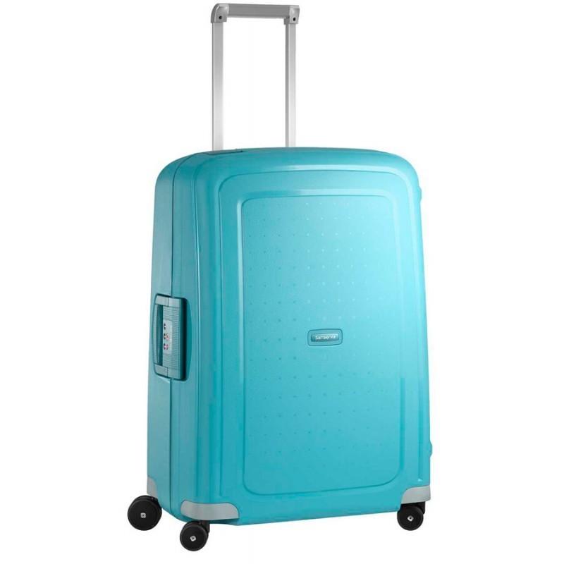 Keskmise suurusega kohver Samsonite S-Cure V sinine Aqua Blue