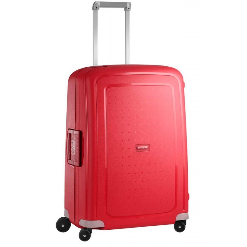Keskmise suurusega kohver Samsonite S-Cure V punane Crimson Red