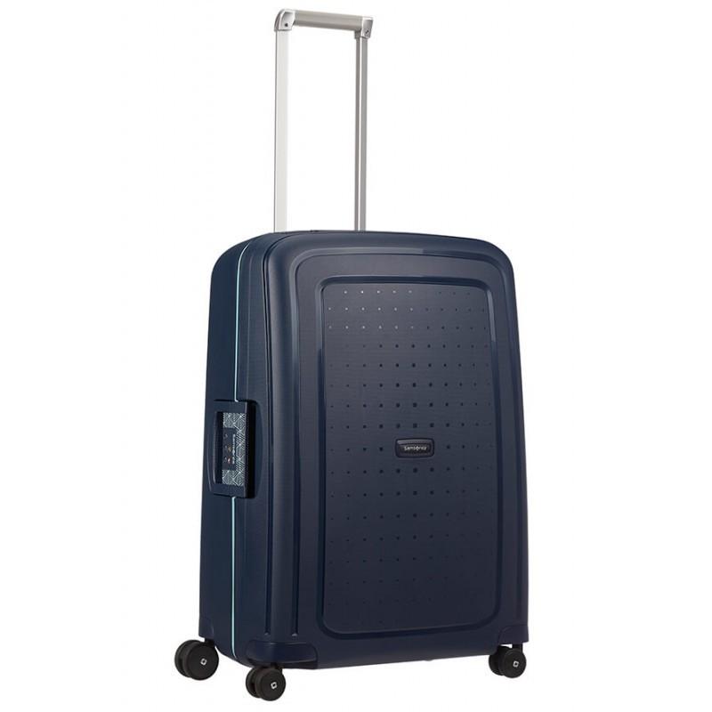 Keskmise suurusega kohver Samsonite S-Cure V sinine Navy Blue Capri
