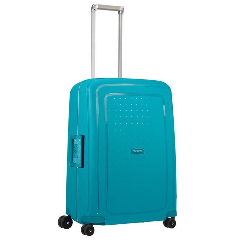 Keskmise suurusega kohver Samsonite S-Cure V sinine Petrol Blue Capri
