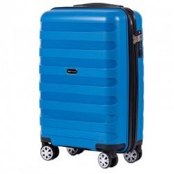 Mažas plastikinis lagaminas Wings PP07 Mėlynas