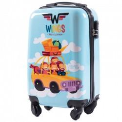 Mažas plastikinis lagaminas Wings PC-KD01-CAR-XS