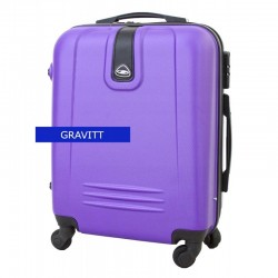 Mažas plastikinis lagaminas Gravitt 168A-M Violetinis