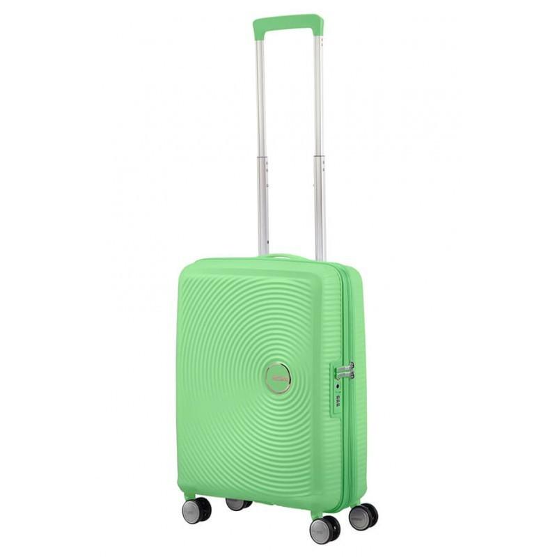 Käsipagasi kohvrid American Tourister Soundbox MSpring Green