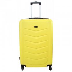 Didelis plastikinis lagaminas Gravitt Travel 602-D Geltonas