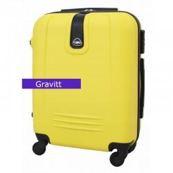 Mažas plastikinis lagaminas Gravitt 168A-M Geltonas