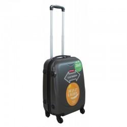 Vaikiškas plastikinis lagaminas Gravitt 310-S Tamsiai pilkas