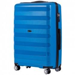 Didelis plastikinis lagaminas Wings PP07-D Mėlynas