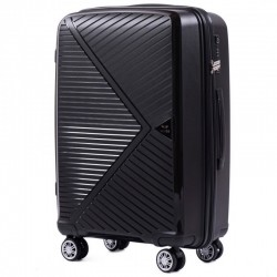 Keskmise suurusega kohvrid Wings PP06-V must