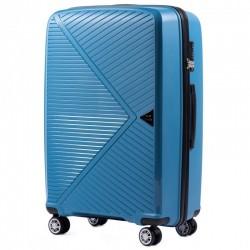 Didelis plastikinis lagaminas Wings PP06-D Mėlynas