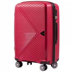 Vidutinis plastikinis lagaminas Wings PP06-V Raudonas