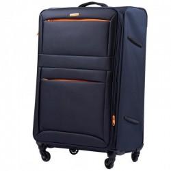 Didelis medžiaginis lagaminas Wings 2861-D Tamsiai mėlynas