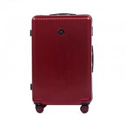 Didelis plastikinis lagaminas Wings 565CB-D Tamsiai raudonas