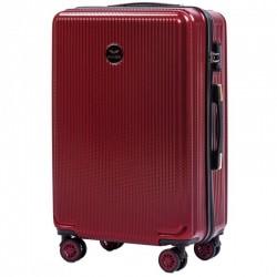Vidutinis plastikinis lagaminas Wings 565CB-V Tamsiai raudonas