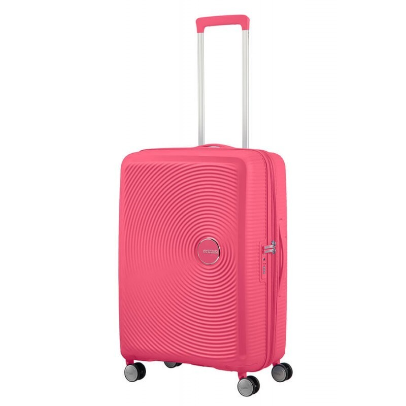 Keskmise suurusega kohvrid American Tourister Soundbox V roosa Rose intense