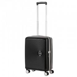Käsipagasi kohvrid American Tourister Soundbox M must-valge