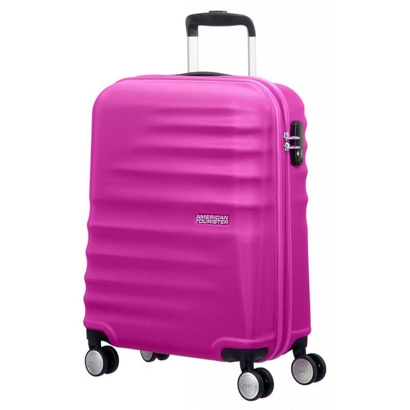 Käsipagasi kohvrid American Tourister Wavebreaker M roosa Hot Lips Pink