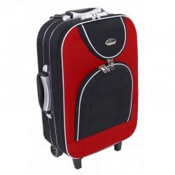 Käsipagasi kohvrid Suitcase 801-M mustpunane