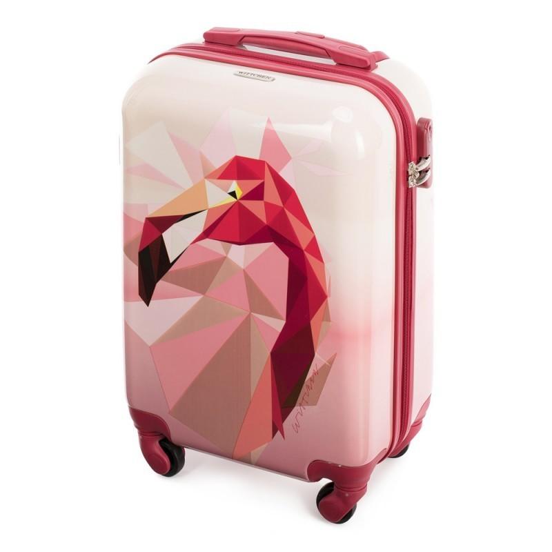 Laste plastkohver Wittchen 56-3A-641 roosa