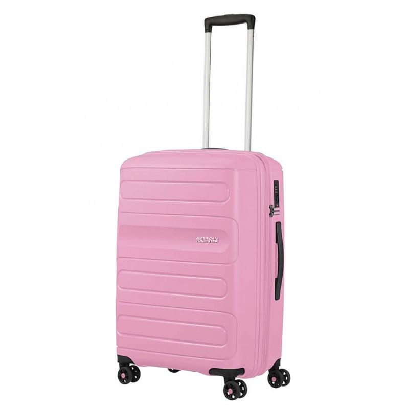 Keskmise suurusega kohvrid American Tourister Sunside V Pink Gelato
