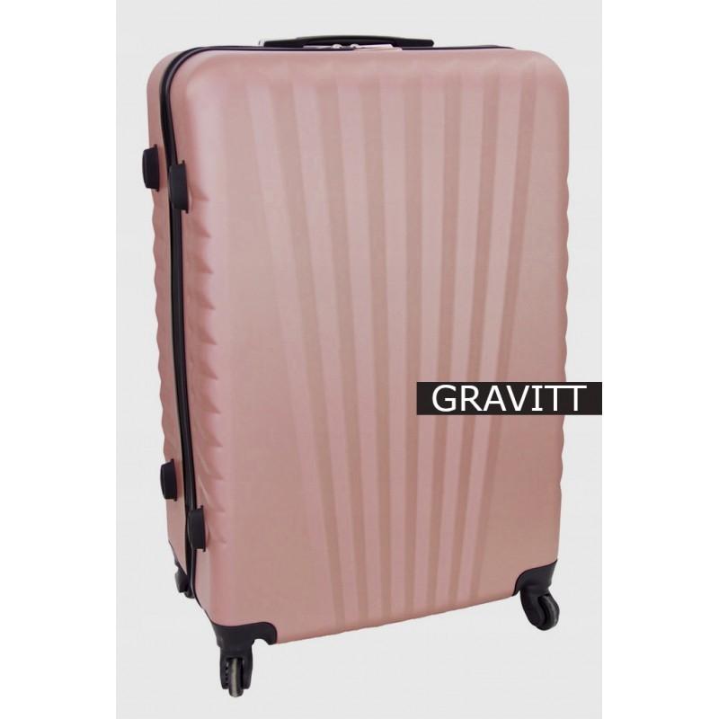 Suur kohver Gravitt 888A-D roosa