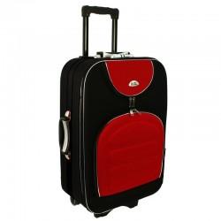 Keskmise suurusega kohver Suitcase 801-V must punane
