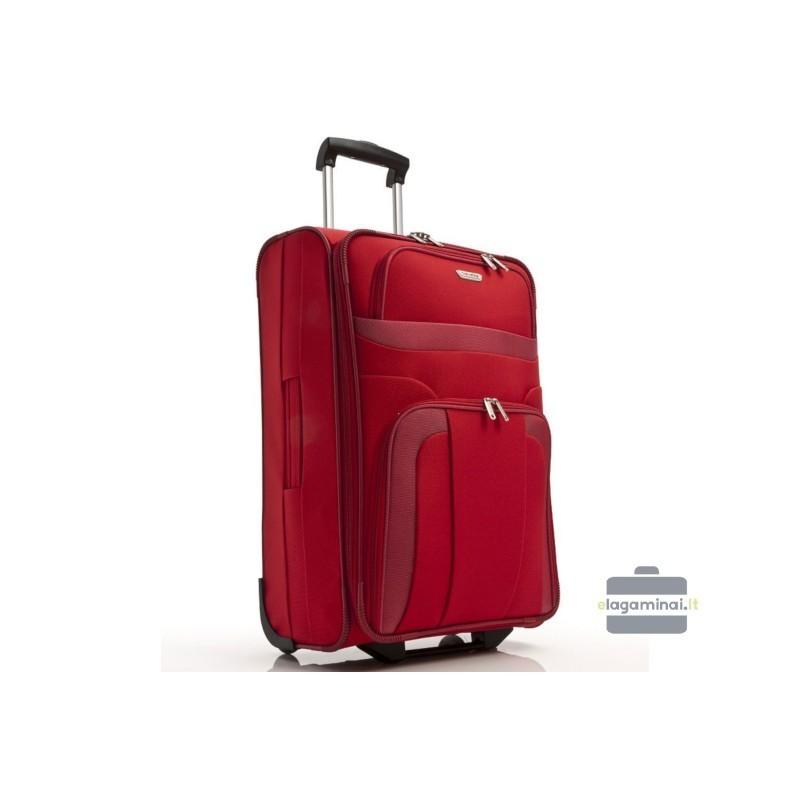 Keskmise suurusega kohver Travelite Orlando V punane