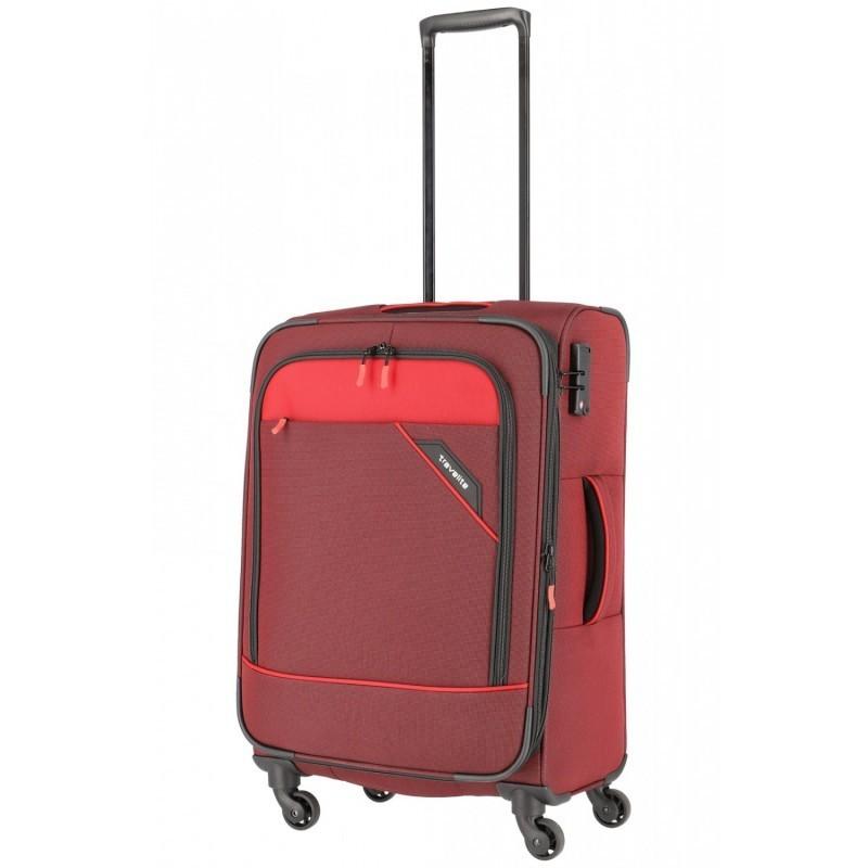 Keskmise suurusega kohver Travelite Derby V punane