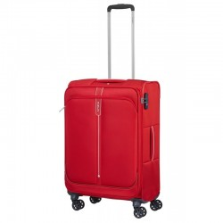 Keskmise suurusega kohver Samsonite PopSoda V punane