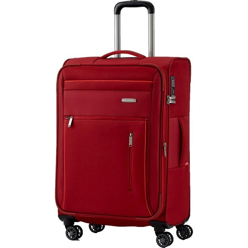 Keskmise suurusega kohvrid Travelite Capri V punane