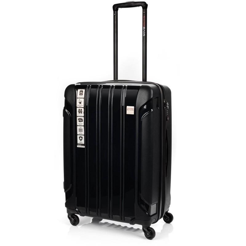 Keskmise suurusega Swissbags Tourist PP-V must