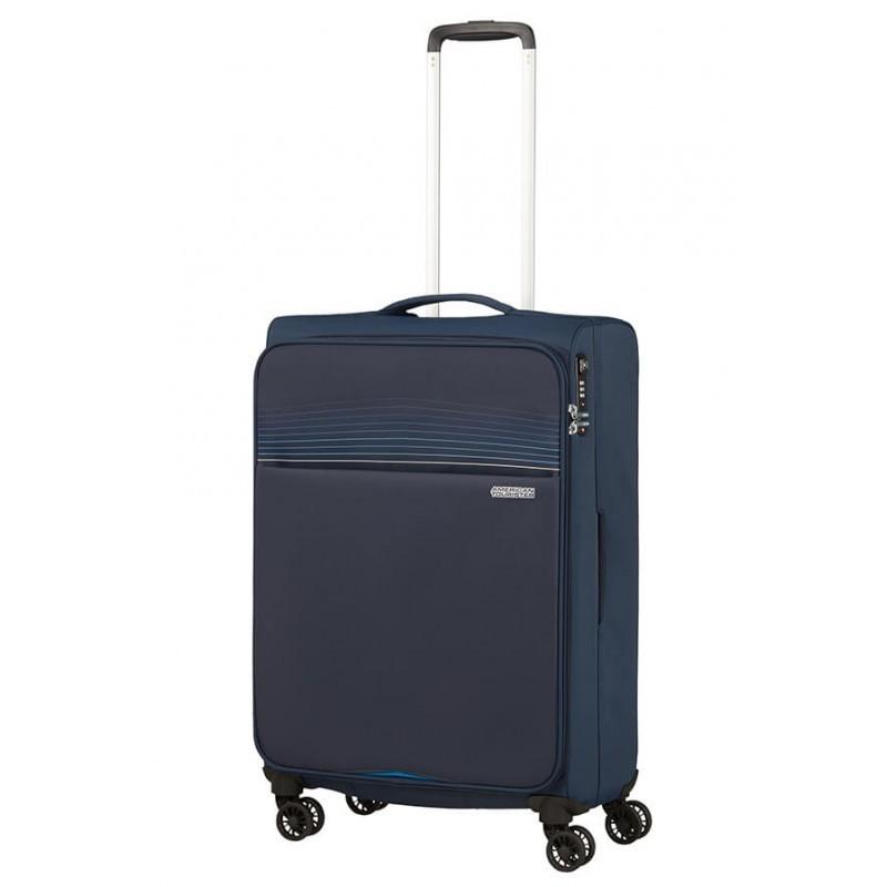 Keskmise suurusega kohver American Tourister Lite Ray V tumesinine