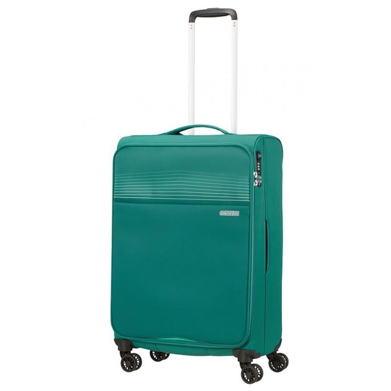 Keskmise suurusega kohver American Tourister Lite Ray V roheline
