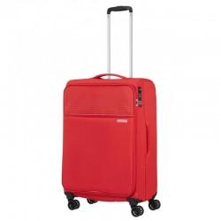 Keskmise suurusega kohver American Tourister Lite Ray V punane