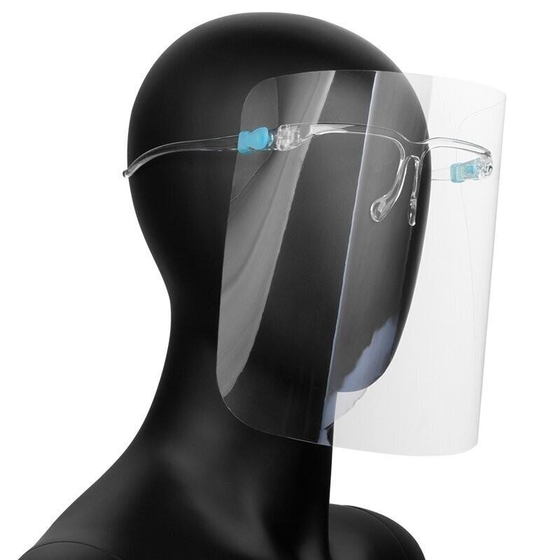 50tk Kaitsev näokaitse SUPER LIGHT - prilliraamid kaitsekilp
