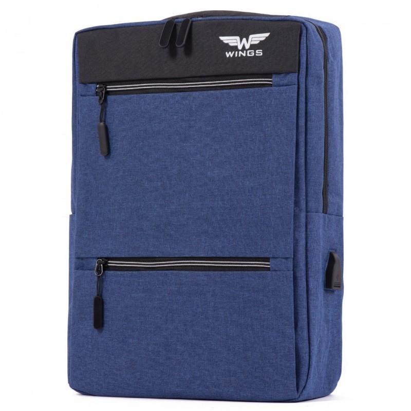 Seljakott Wings BP30-01 USB sinine