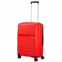 Keskmise suurusega kohvrid American Tourister Sunside V punane Sunset Red
