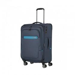Vidutinis medžiaginis lagaminas Travelite Madeira V Tamsiai mėlynas