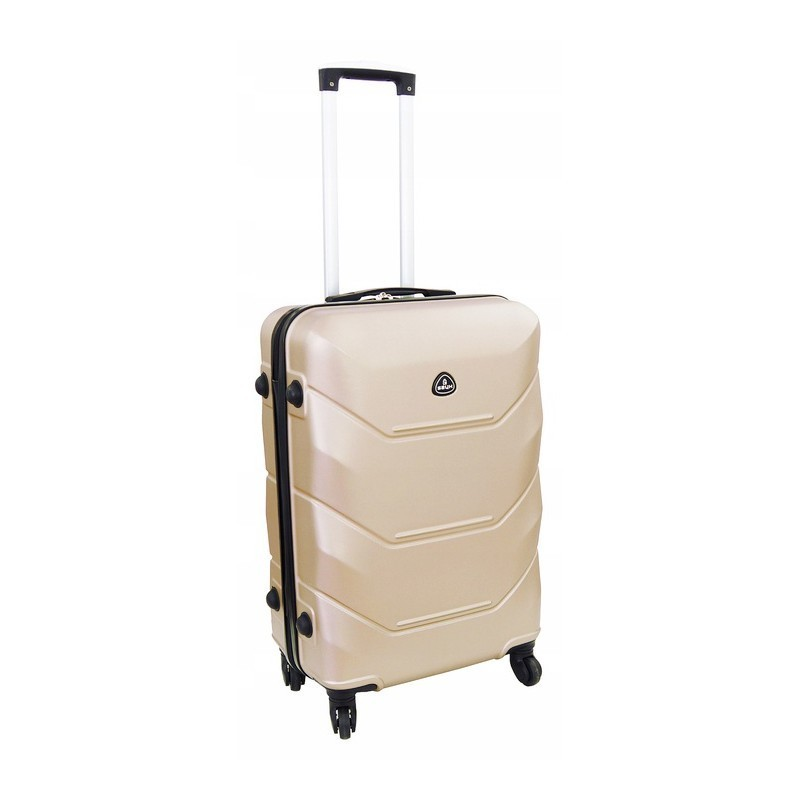 Vidutinis plastikinis lagaminas Gravitt 950-V Šampano spalva