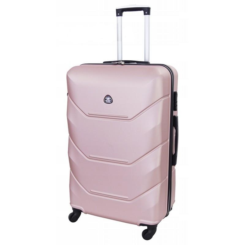 Vidutinis plastikinis lagaminas Gravitt 950-V Rožinis