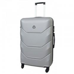 Didelis plastikinis lagaminas Gravitt 950-D Sidabro spalva