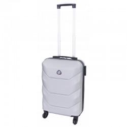 Mažas plastikinis lagaminas Gravitt 950-M Sidabro spalva