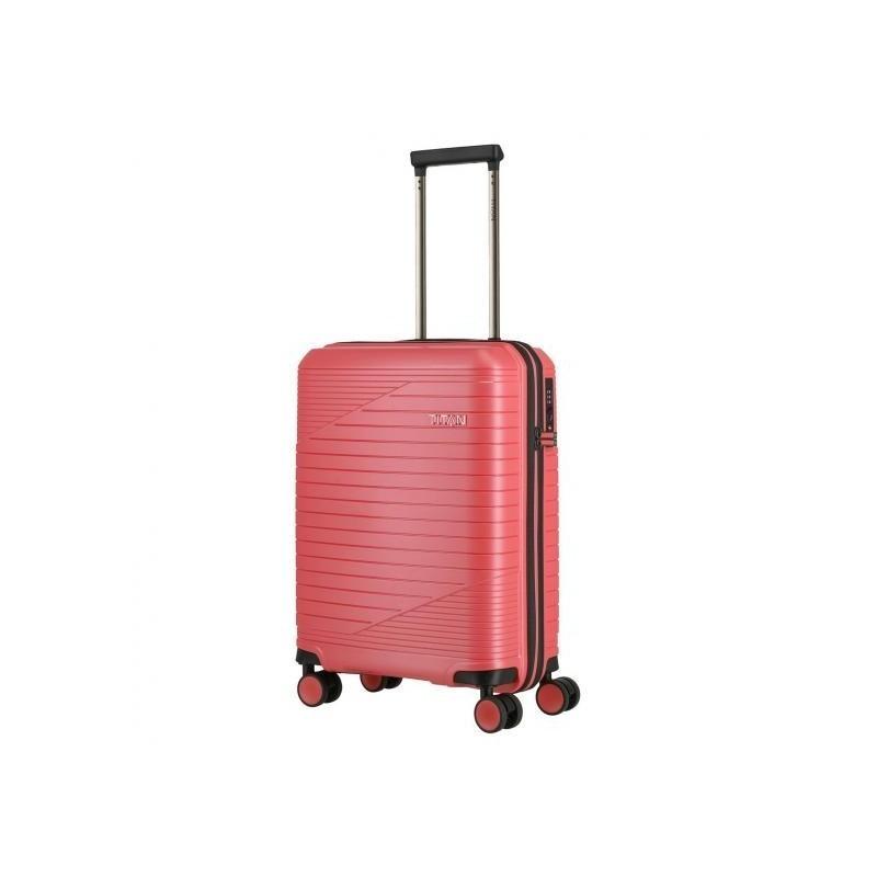 Mažas plastikinis lagaminas Titan Transport M Rožinis