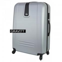 Vidutinis plastikinis lagaminas Gravitt 168A-V Sidabro spalva