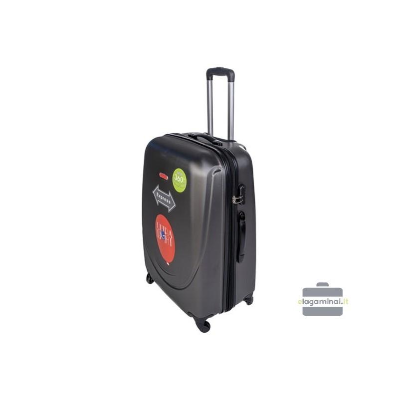 Keskmise suurusega kohver Gravitt 310-V tume hall